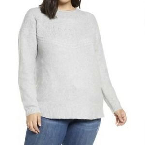 NWT Caslon Stitch Detail Pullover Sweater Plus